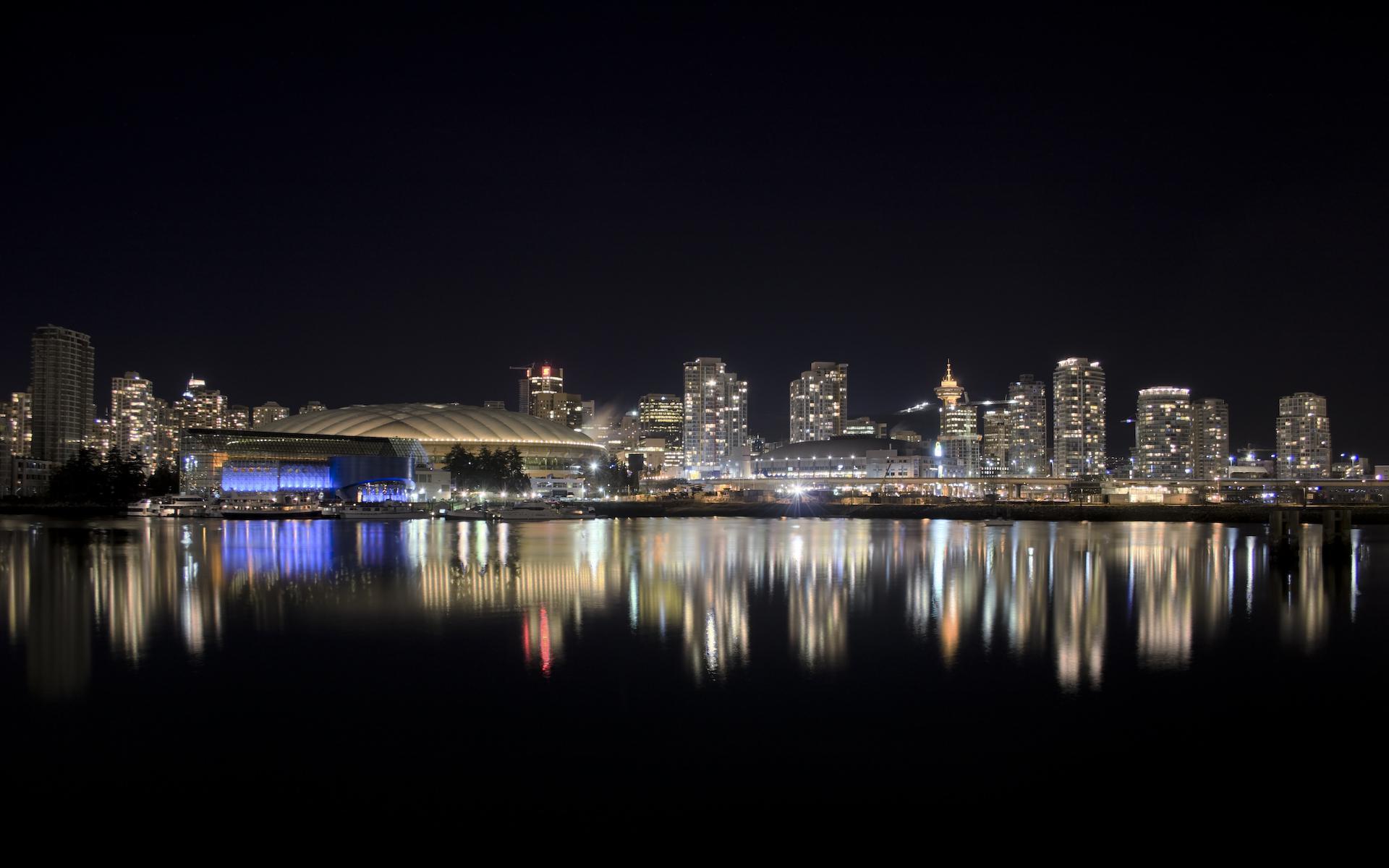 Города красивый ночной город 1920x1200