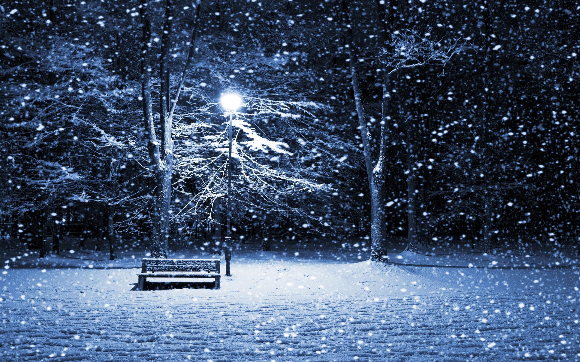 Снегопад Картинки На Рабочий Стол