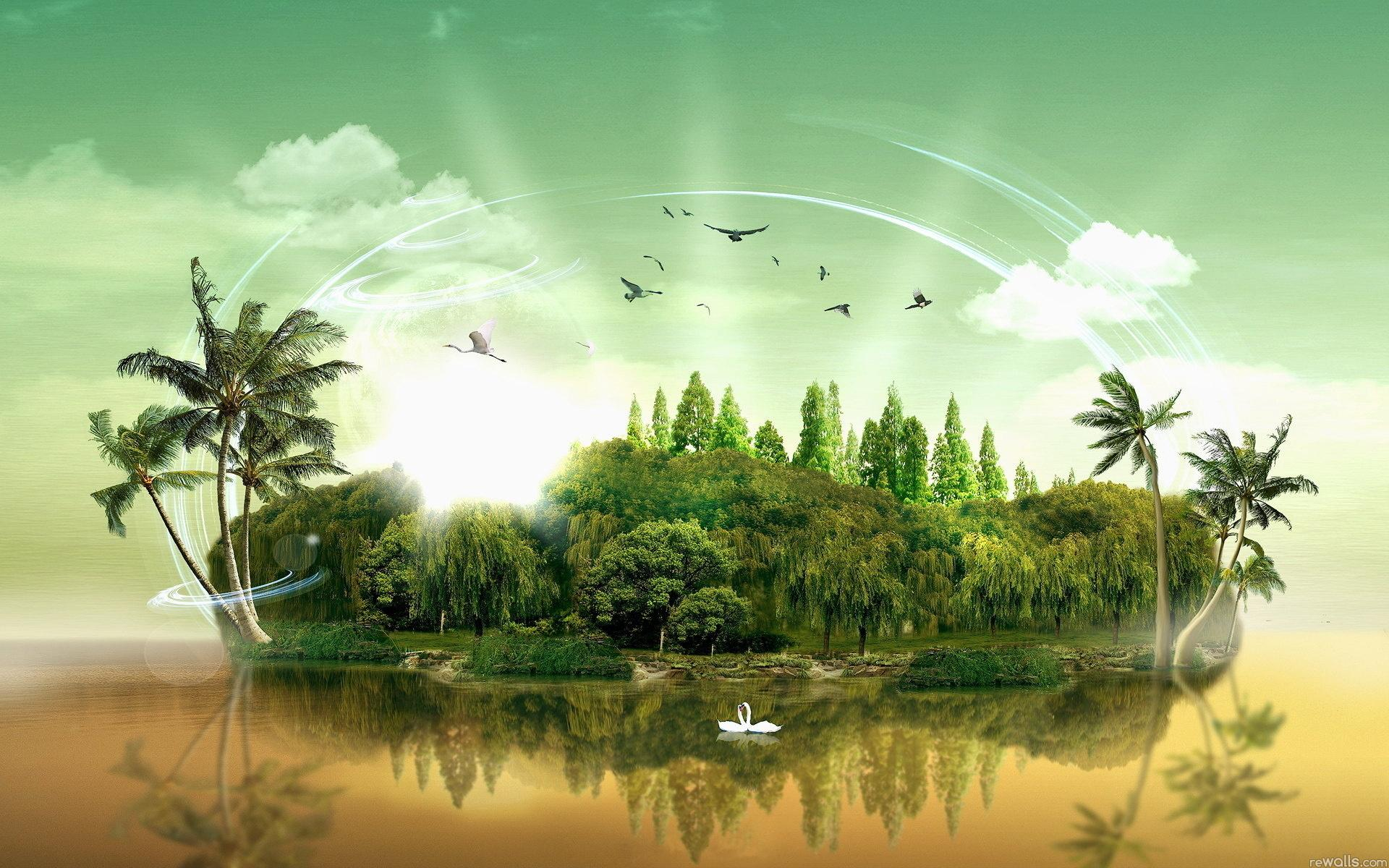 Природа природа разное остров 1920x1200