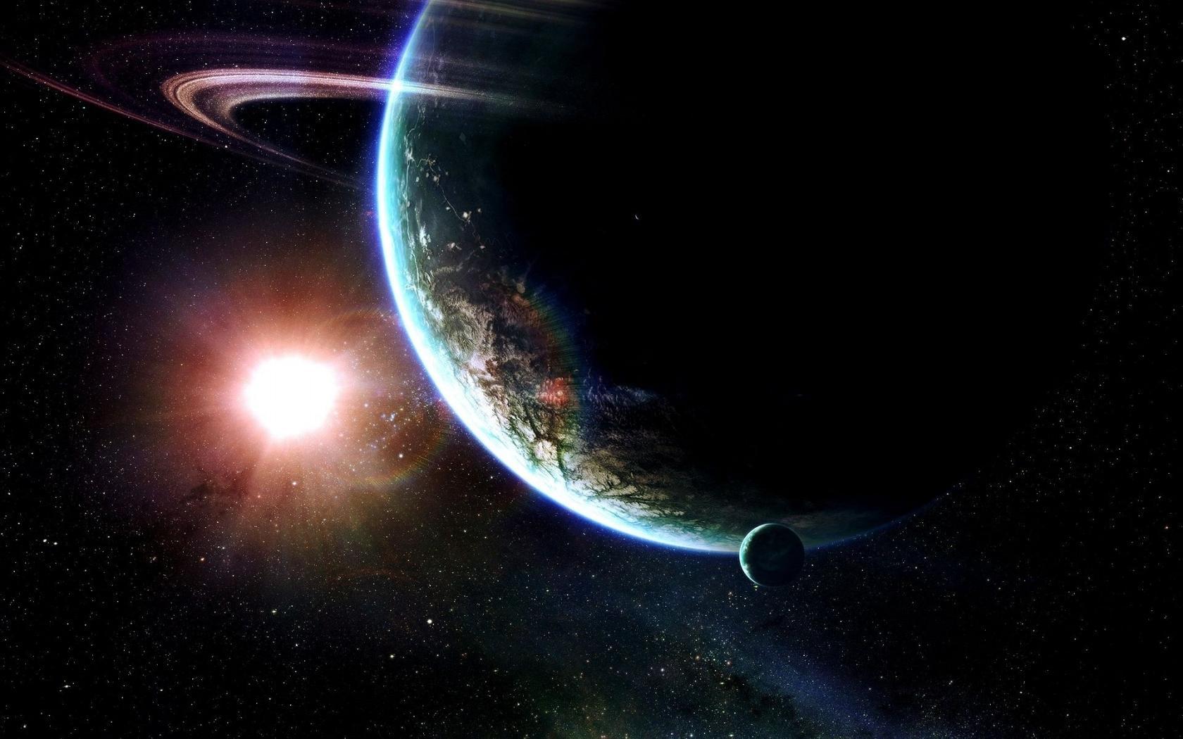 Космос планеты солнце обои для