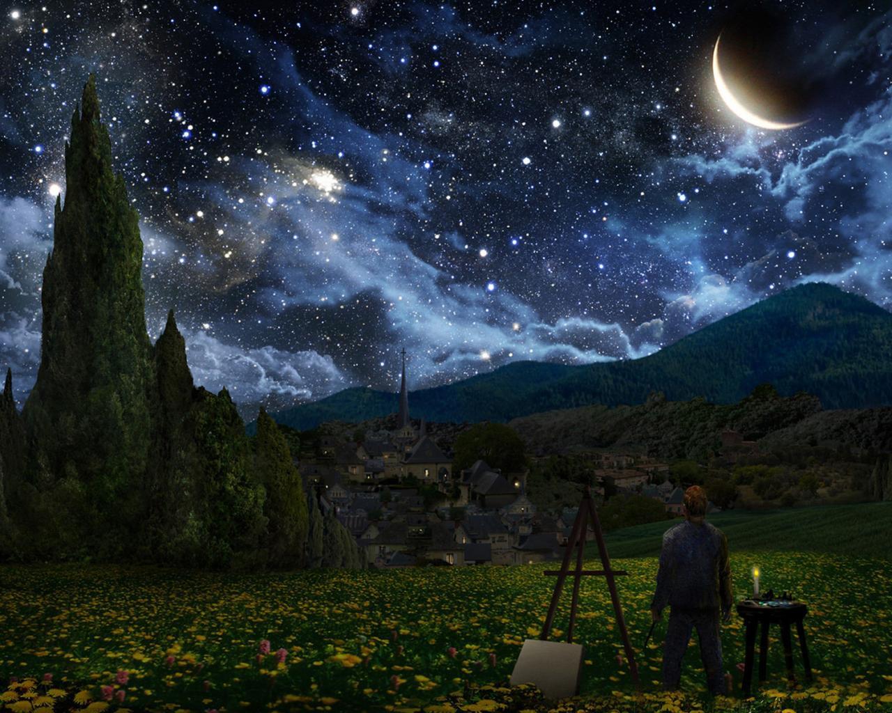 Космос космос природа небо ночное