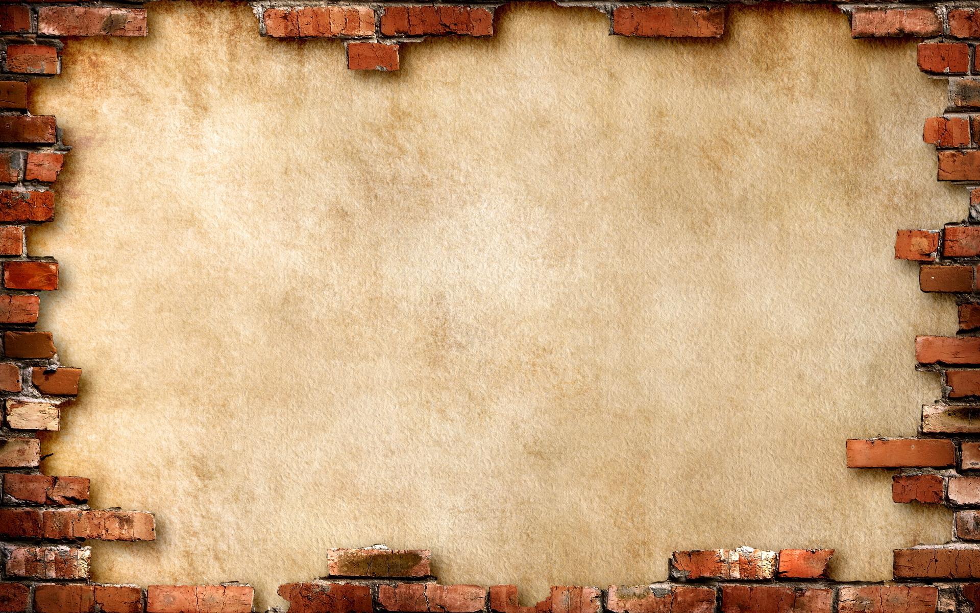 Кирпич стена коричневый фон обои для