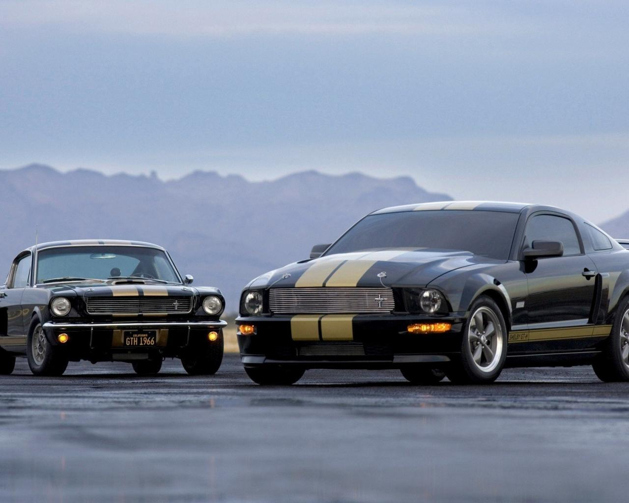 Ford, mustang gth 1966, old, new 1280x1024
