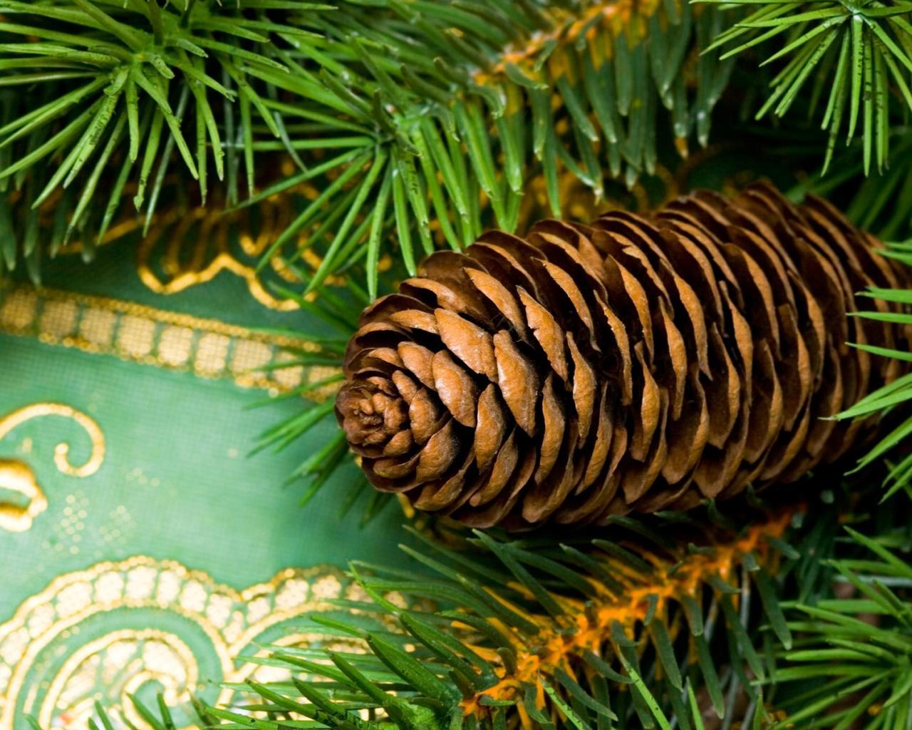 Обои зима снег елка новый год на