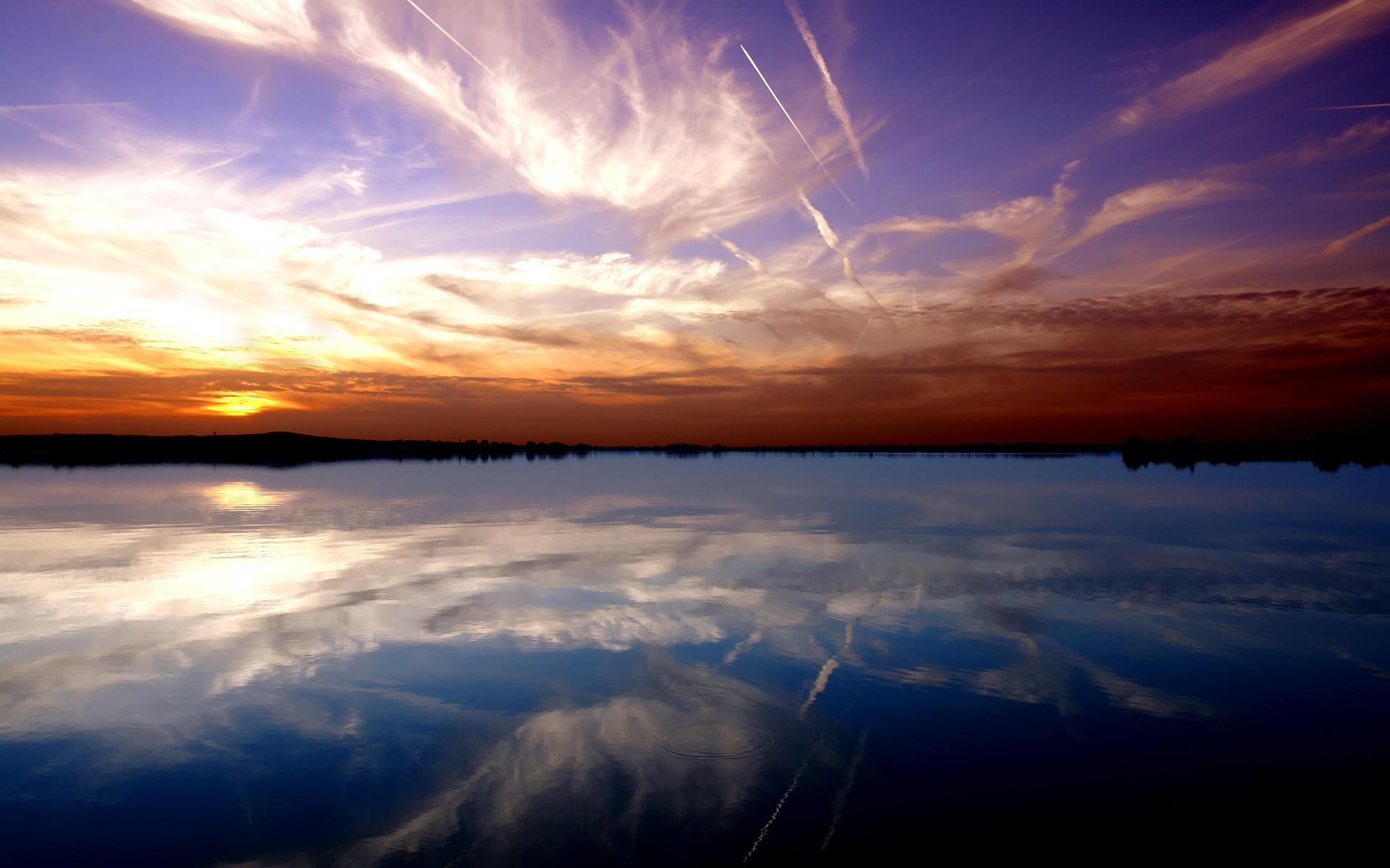 Красота вода река озеро небо обои
