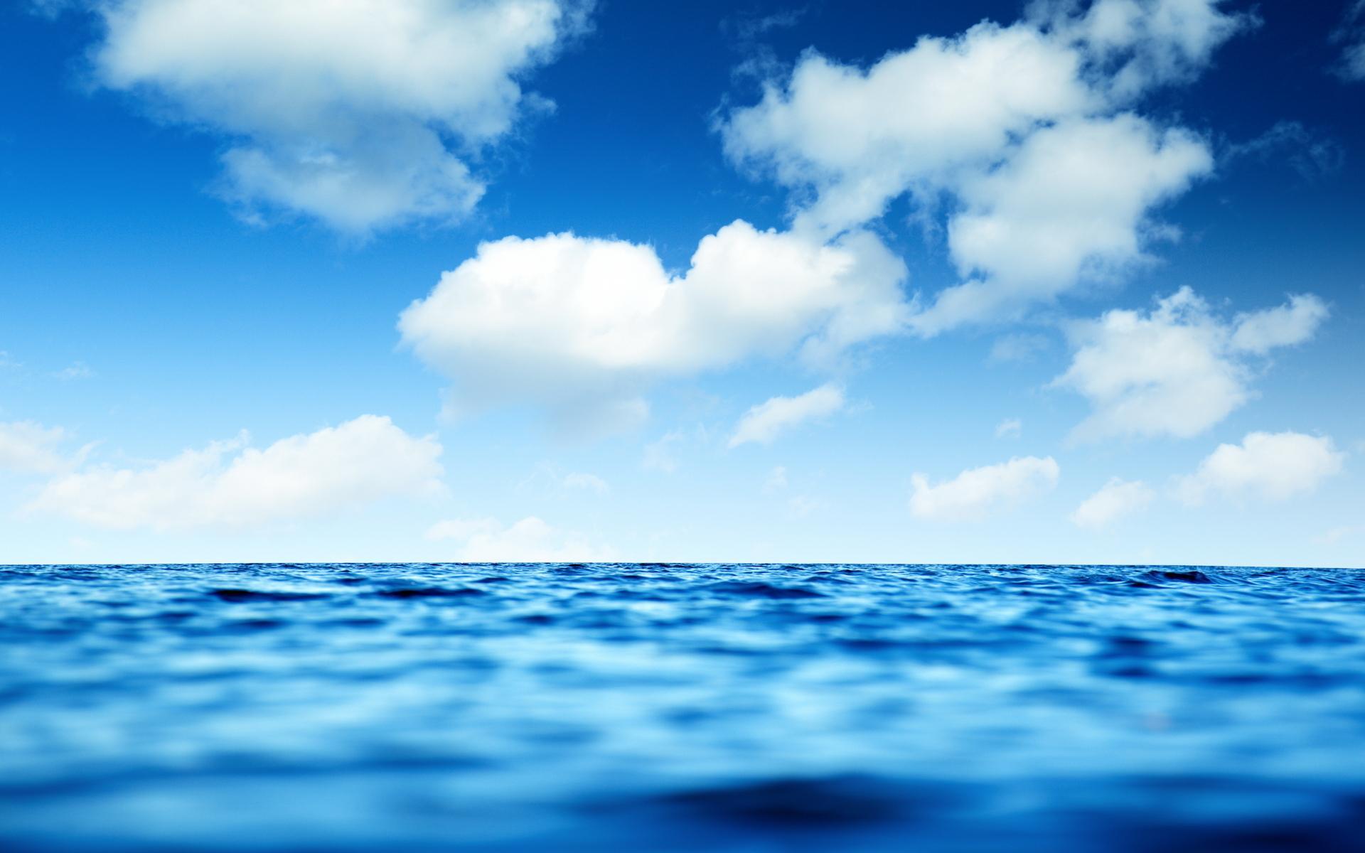 Река вода волны небо облака 1920x1200