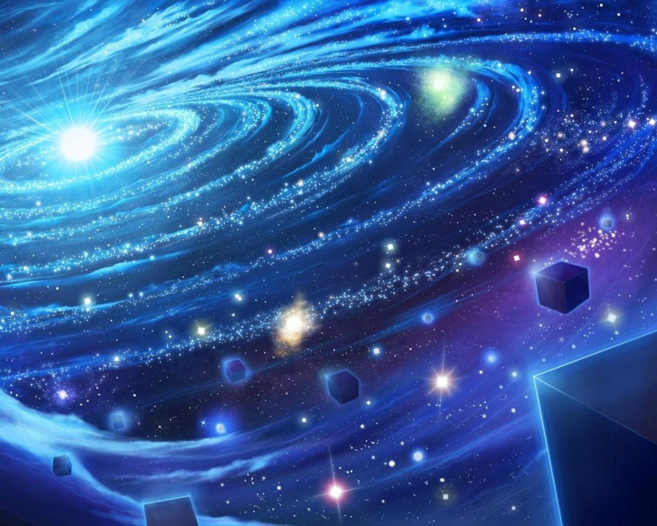 Обои космос космос синь красиво 1280x1024
