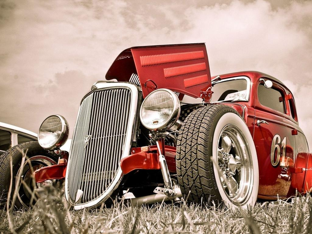 Hot rod, old car 1024x768
