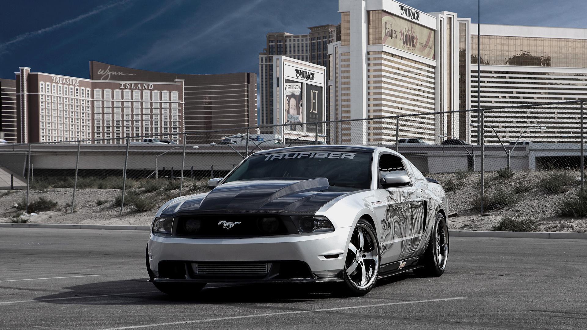 Mustang здания автомобили машины авто
