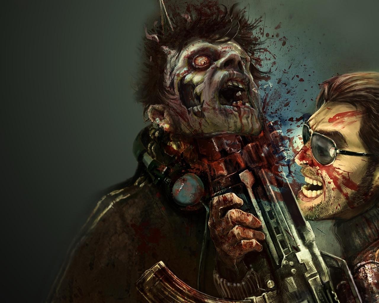 Игры игры зомби оружие автомат крик