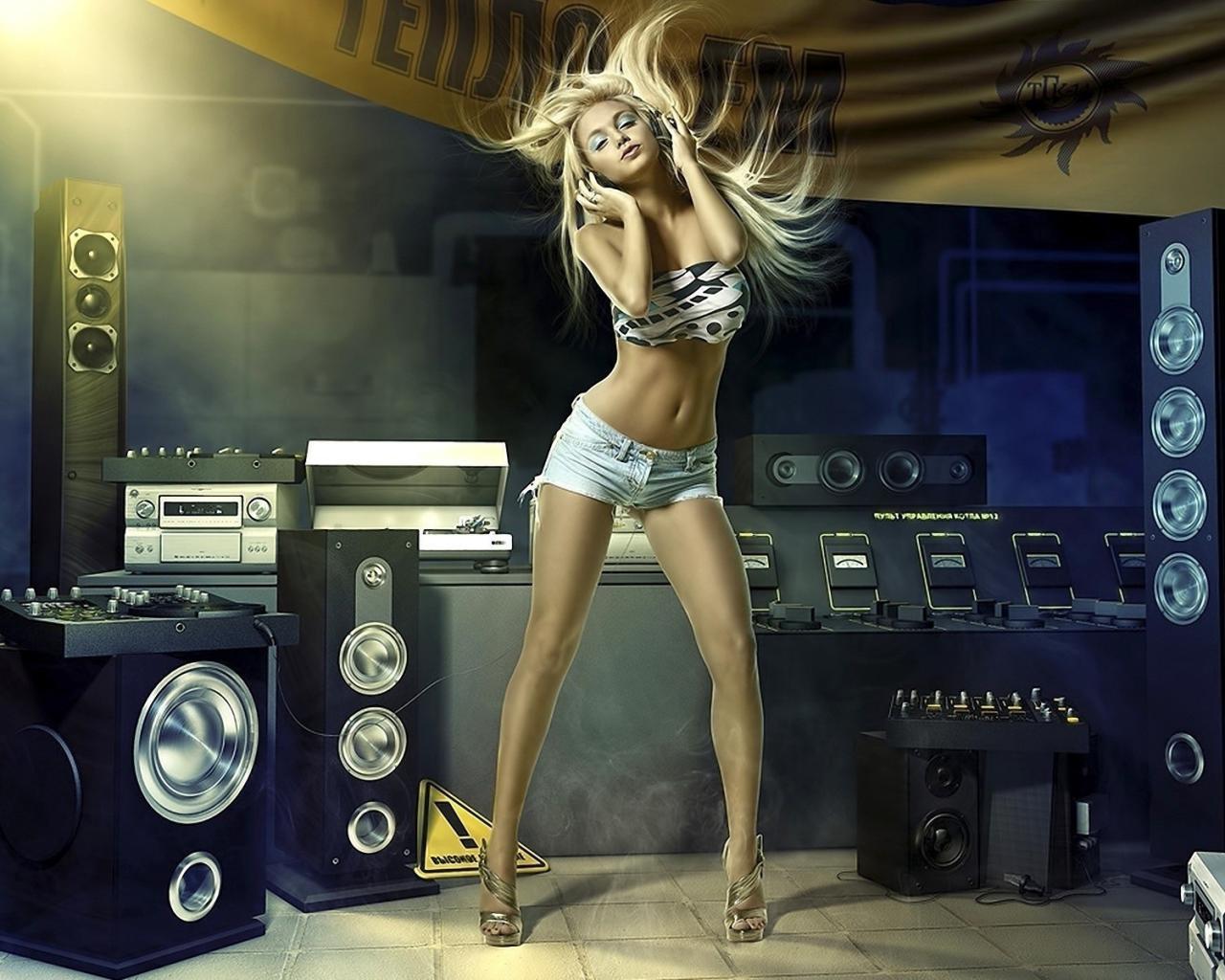 Музыка танцы блондинка обои для