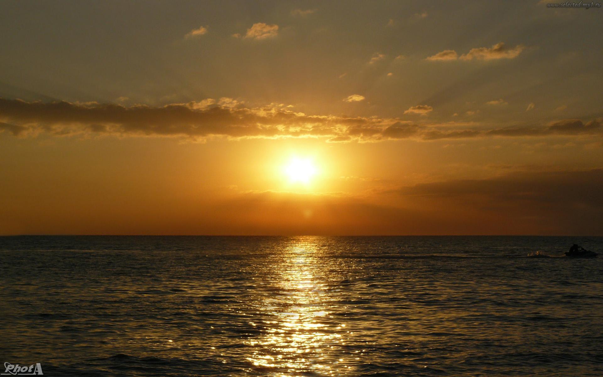 Черное море закат красота обои для