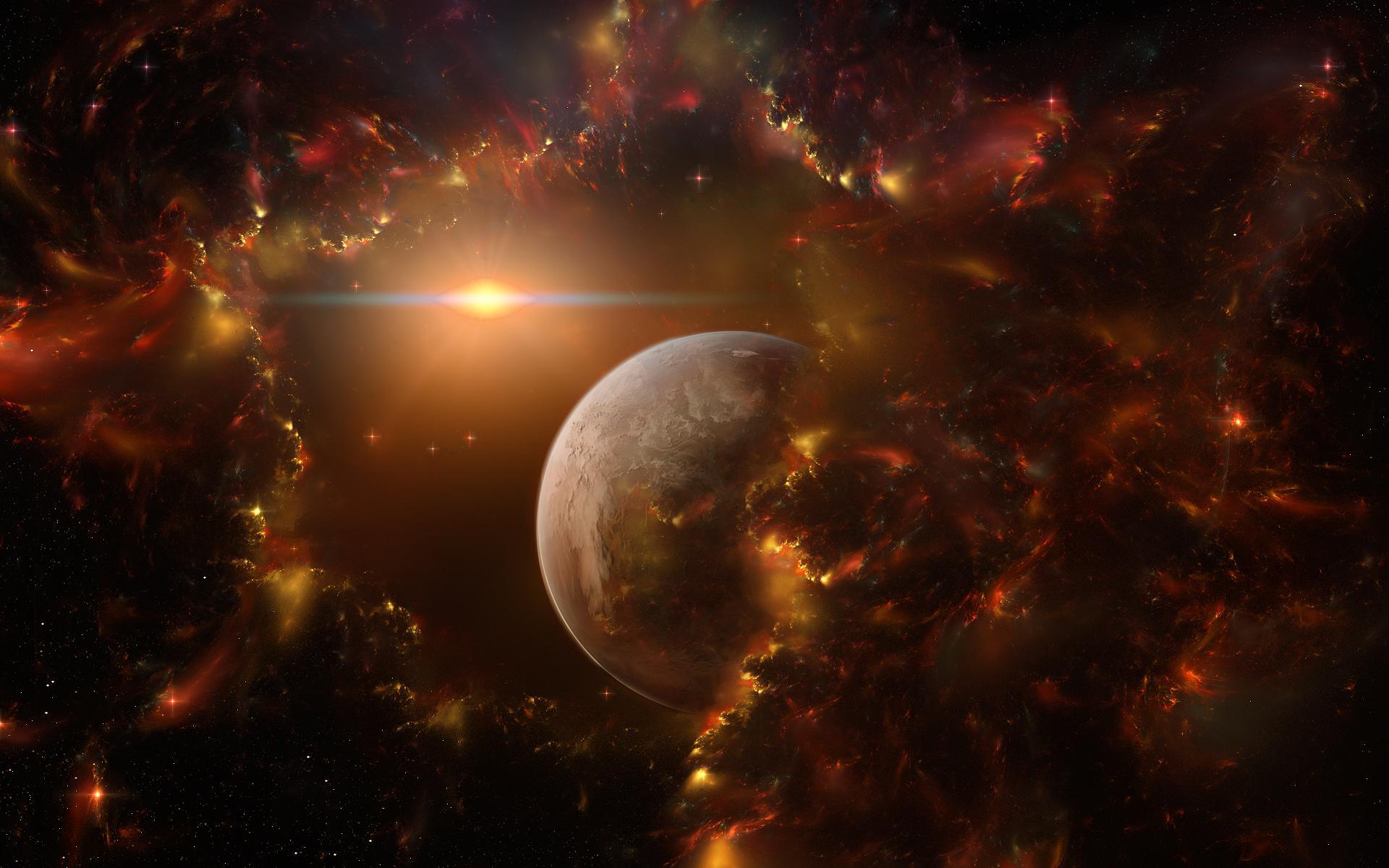 Фантастика космос звезды планета