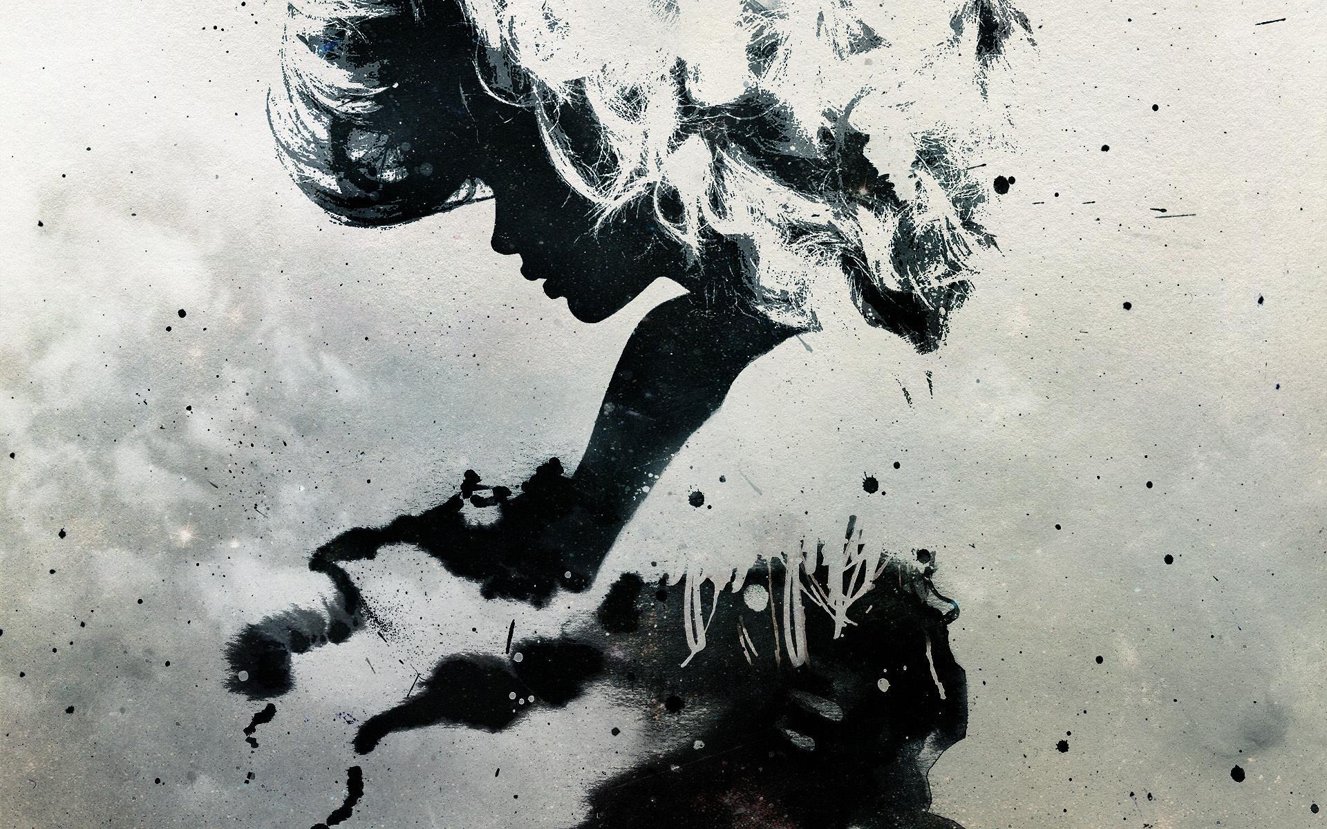 Черно белое креативное фото девушек 13 фотография