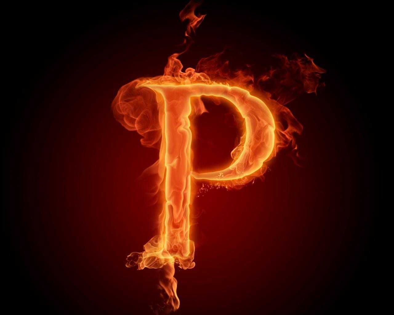 Огненный алфавит буква P обои для рабочего стола, картинки, фото ...