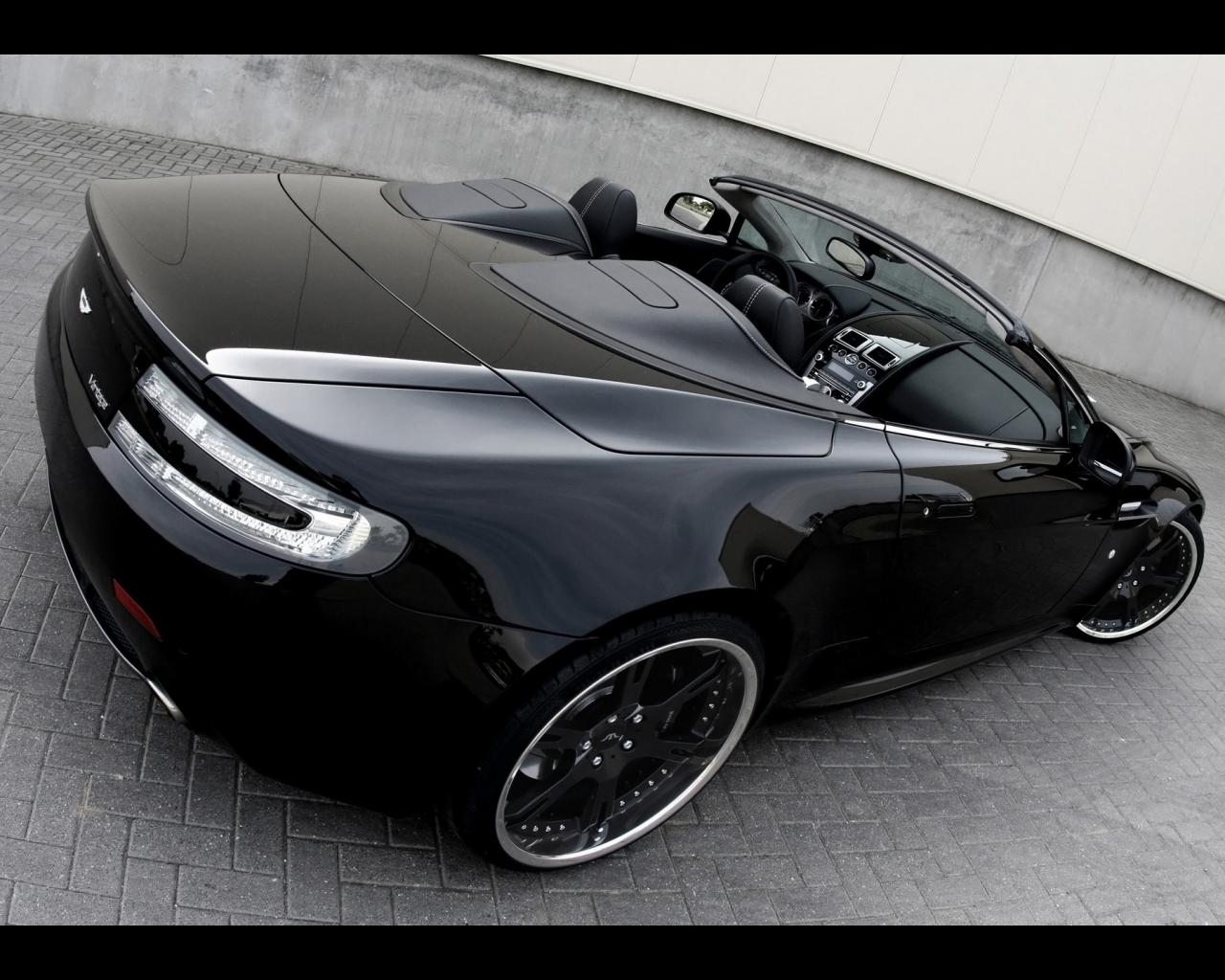 Aston, martin, Vantage, V8, back, side 1280x1024