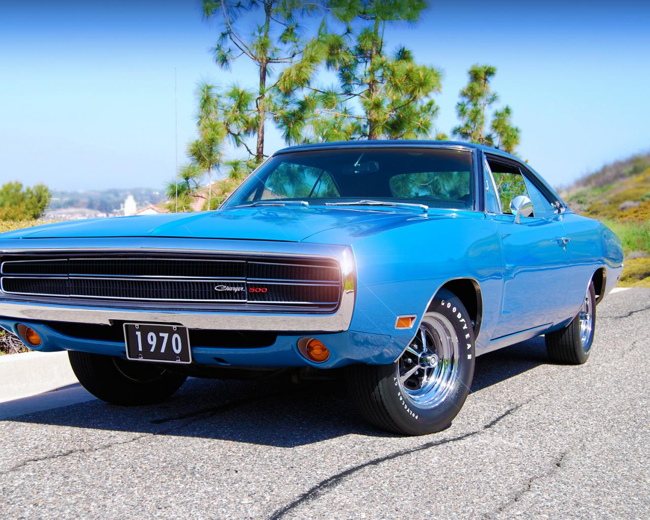 1970, dodge, charger, 500 1280x1024