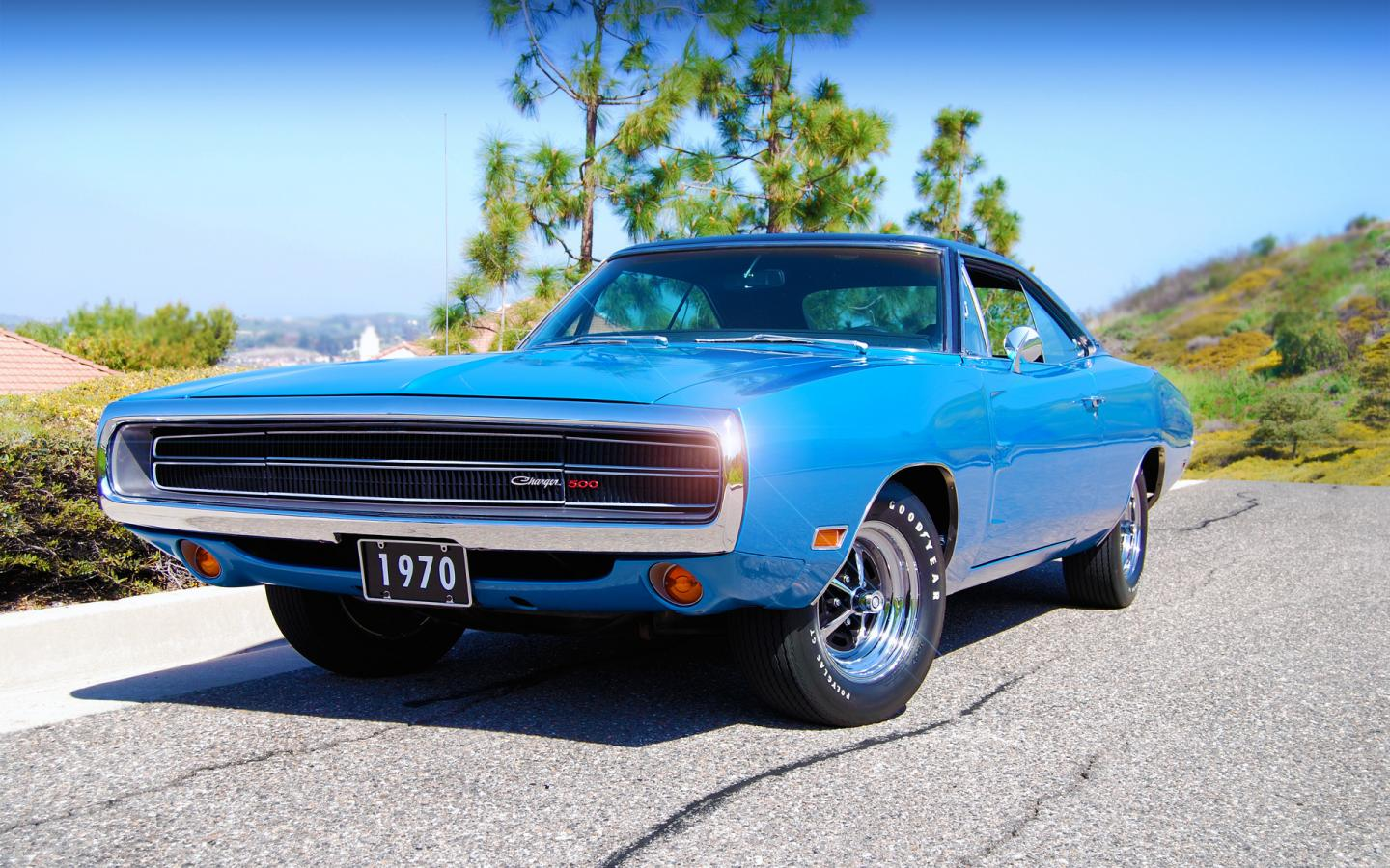 1970, dodge, charger, 500 1440x900