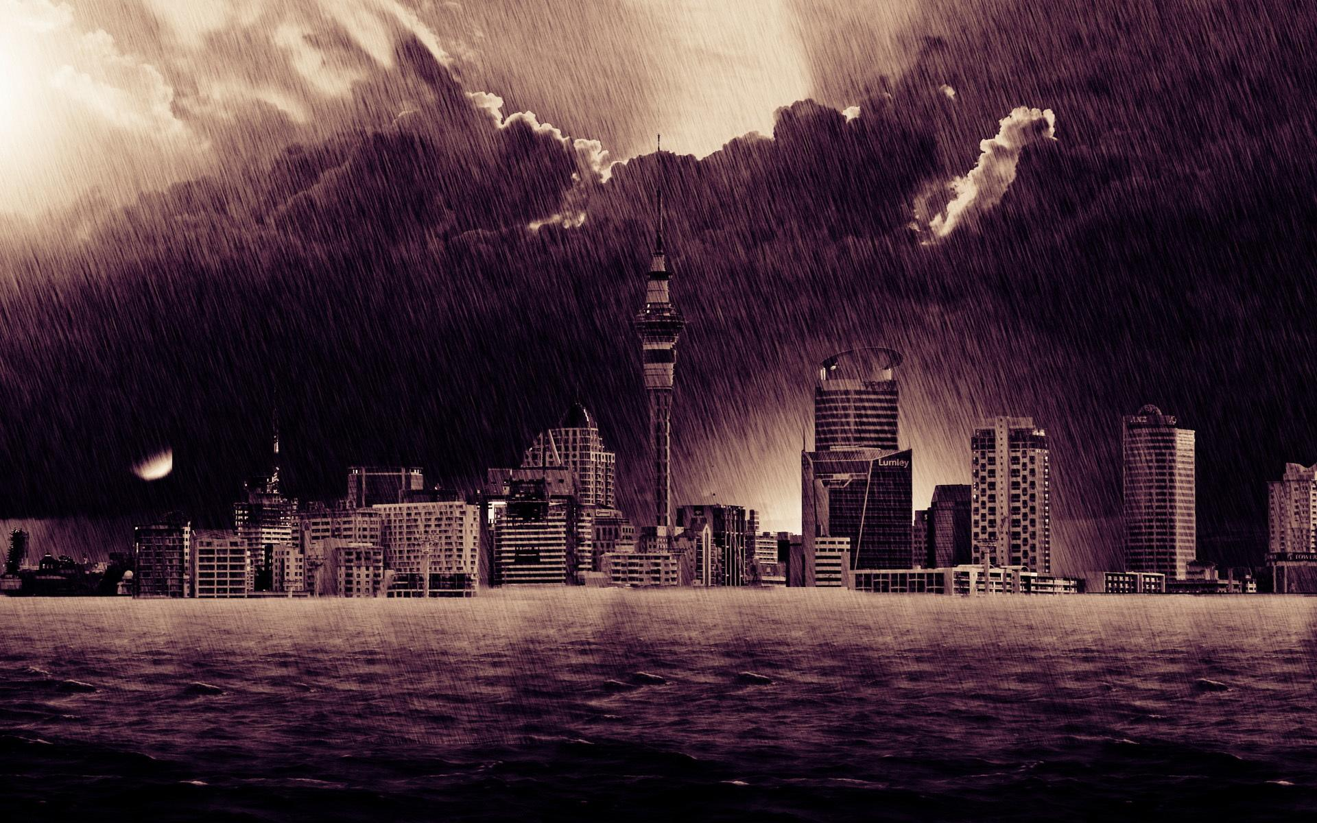 Group Of Rain City Wallpapers Widescreen