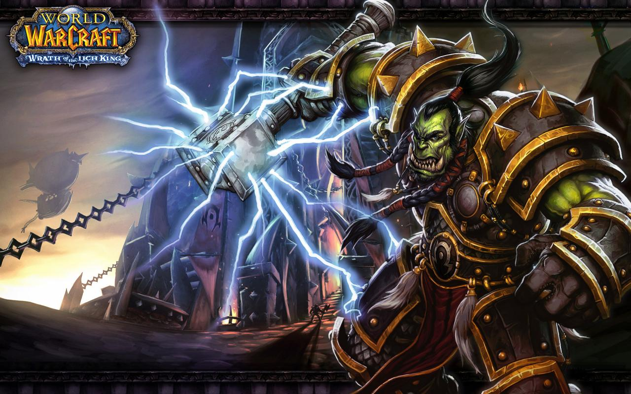 Игры, warcraft, world of warcraft, wow, орк 1280x800