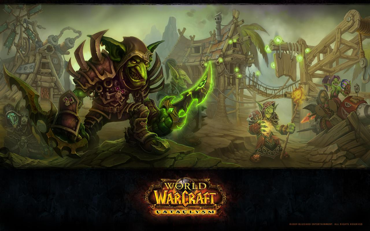 Wow, world of warcraft, goblin, cataclysm, гоблин, катаклизм 1280x800
