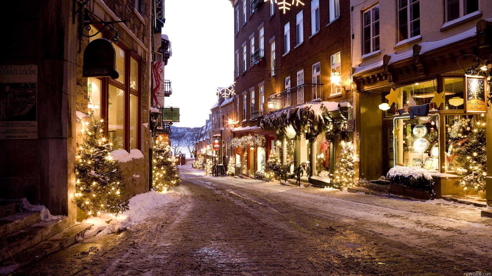 Рождество снег новый год зима ель