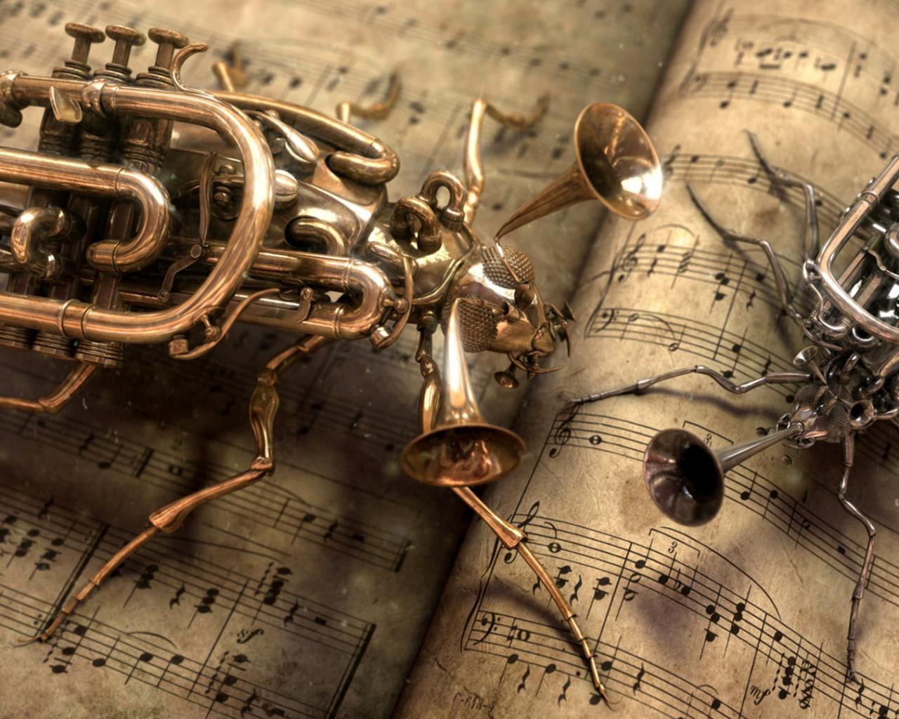 Обои музыка креативная музыка 1280x1024