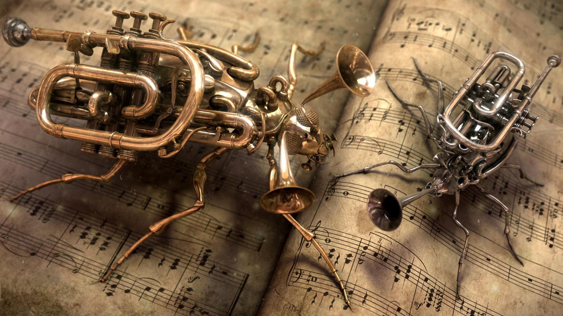 Обои музыка креативная музыка 1920x1080