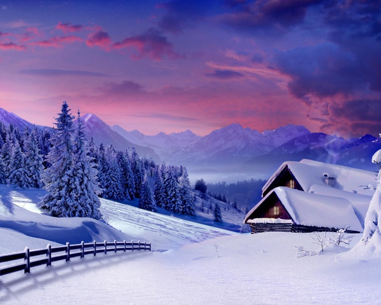 Обои природа природа зима 1280x1024