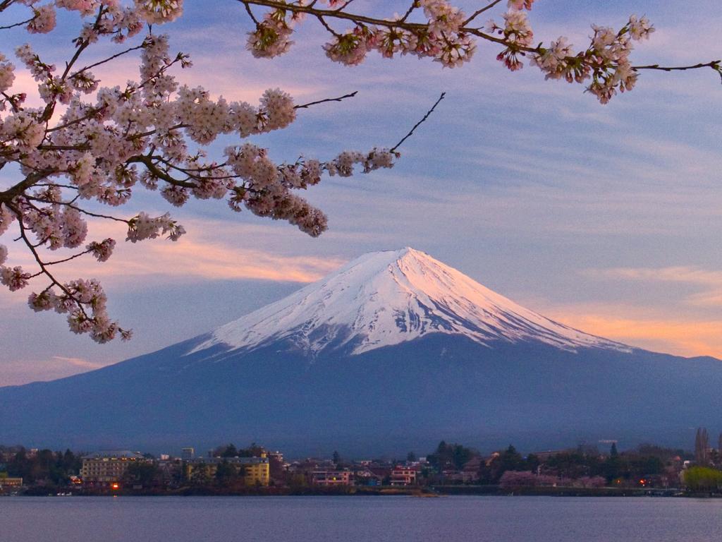 Обои природа гора фудзияма в японии