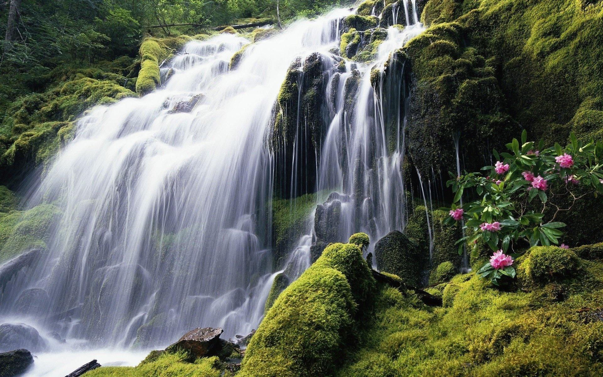 обои на рабочий водопады: