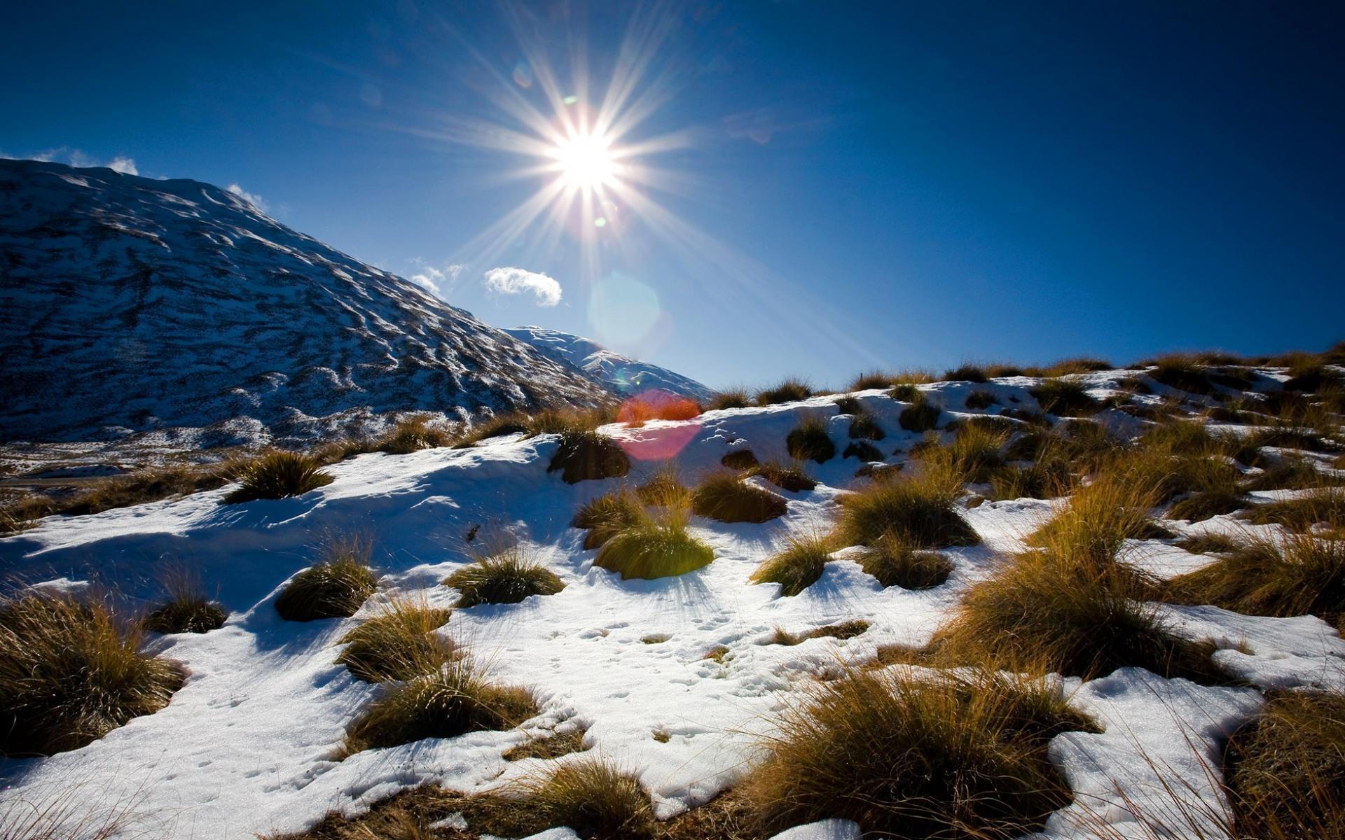 Зимняя п�и�ода Новой Зеландии �ка�а�� 1920�1200 обои для