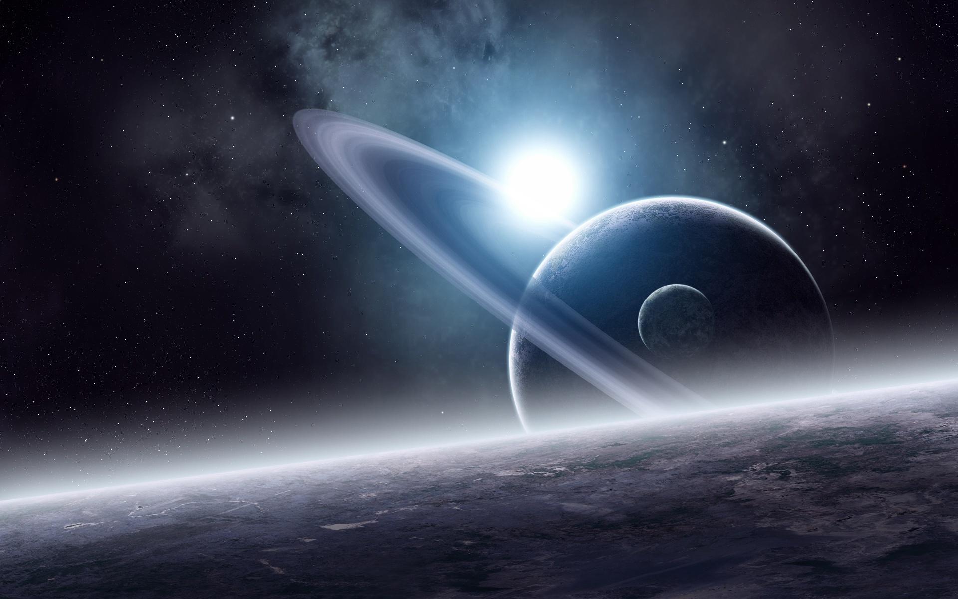 Космос планета сатурн космос звезды