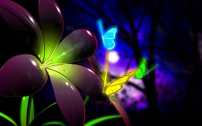 картинки с цветами и бабочками: