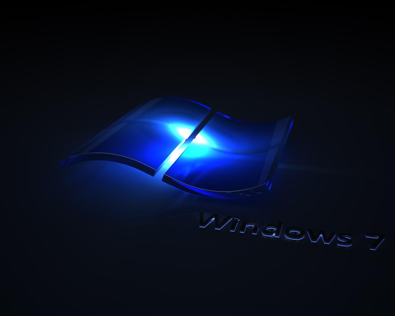 Windows 7 черные обои для рабочего стола