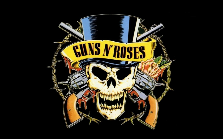 Guns N' Roses logo обои для рабочего стола, картинки, фото, 1440x900.