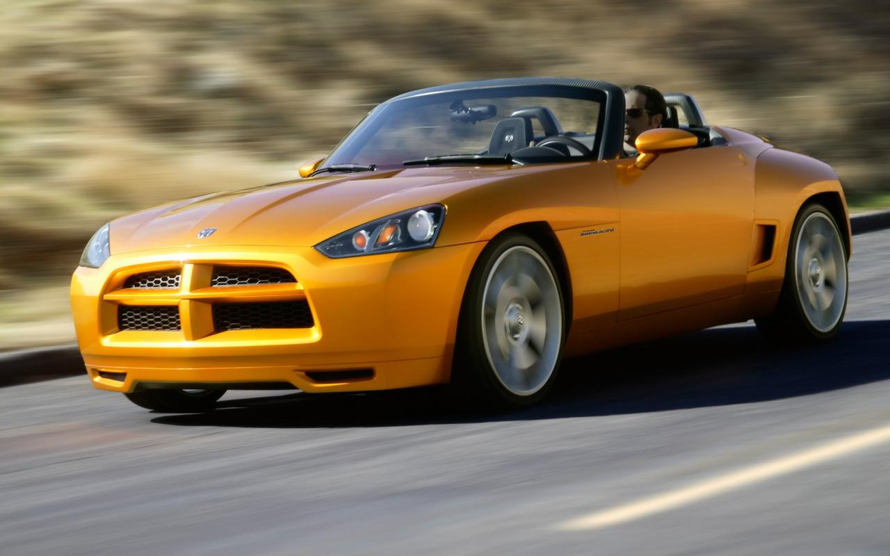 2007 Dodge Demon Roadster Concept Side Angle Speed 1280x800