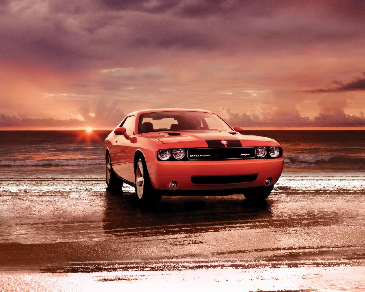 2008 Dodge Challenger Srt8 Front Shore 1280x1024