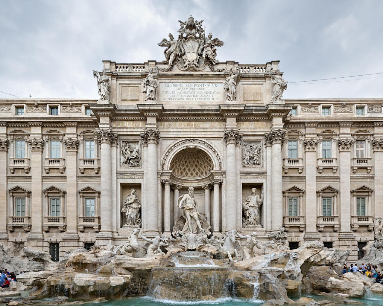 Рим здание фонтан скульптуры обои