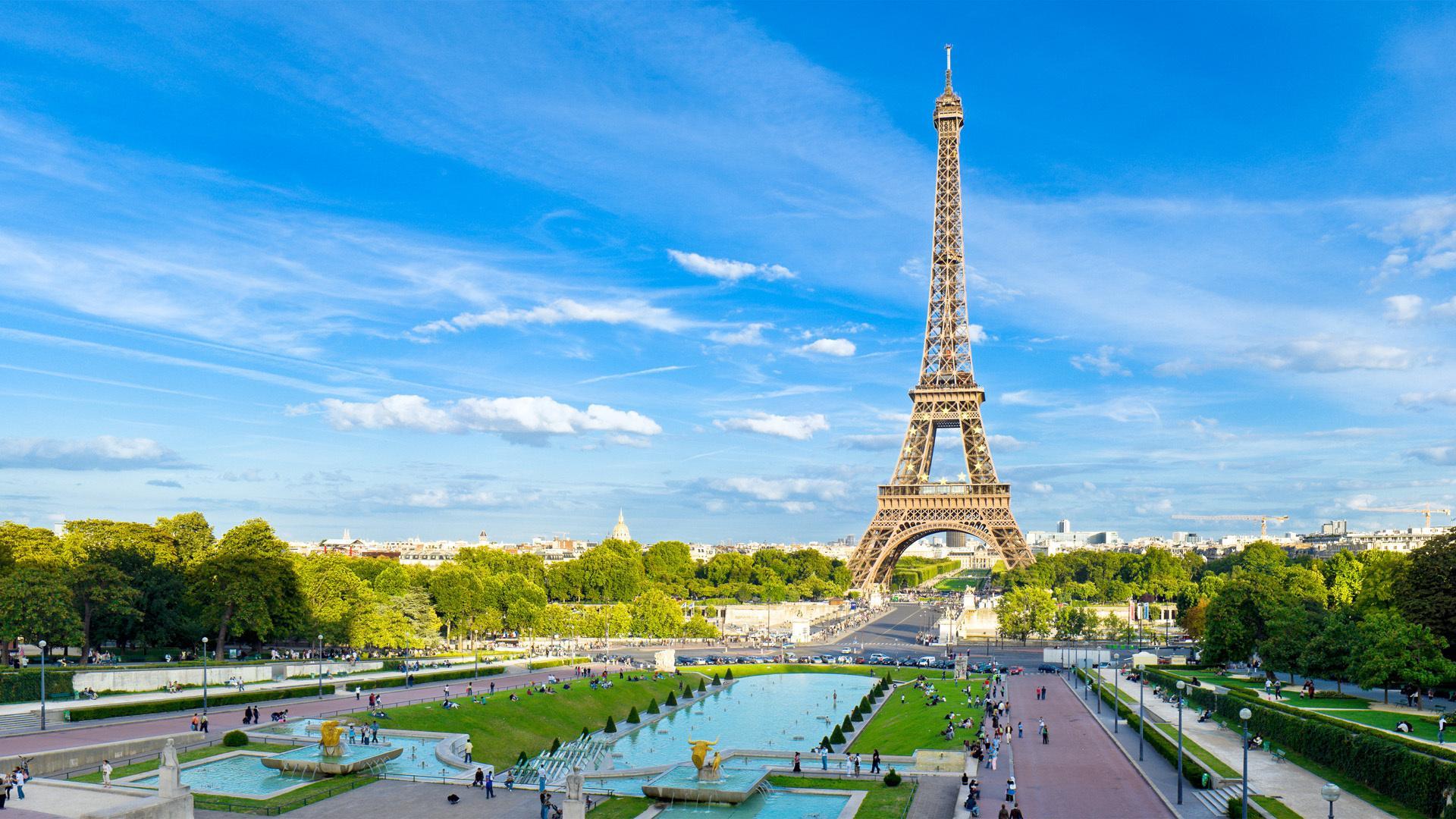 Париж лето обои для рабочего стола