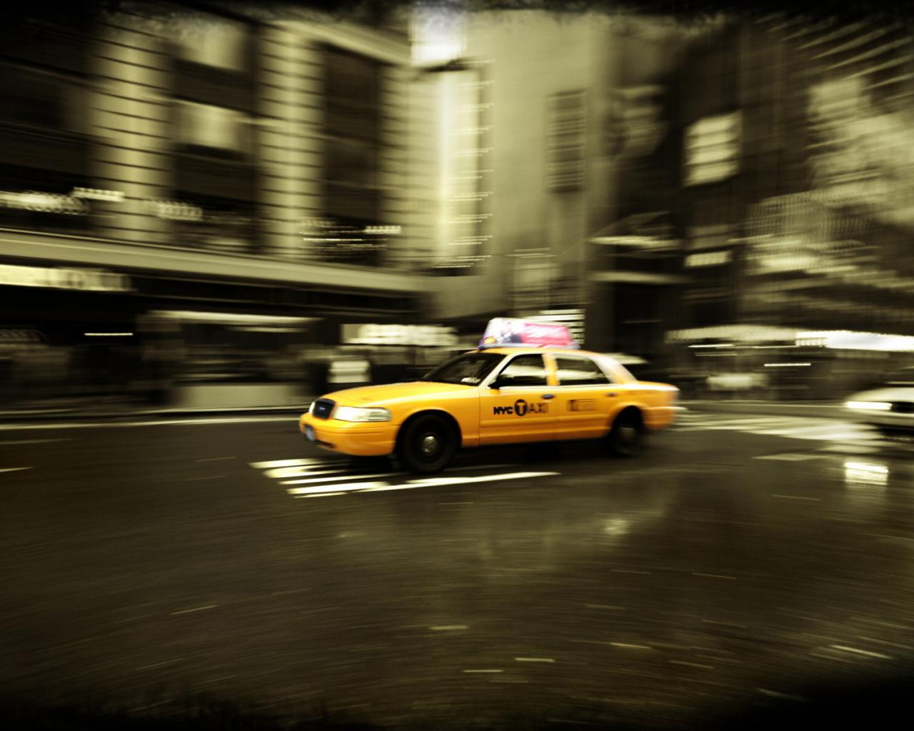 фотообои нью йорк такси: