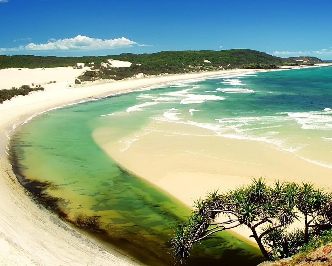 Тропический пляж обои для рабочего