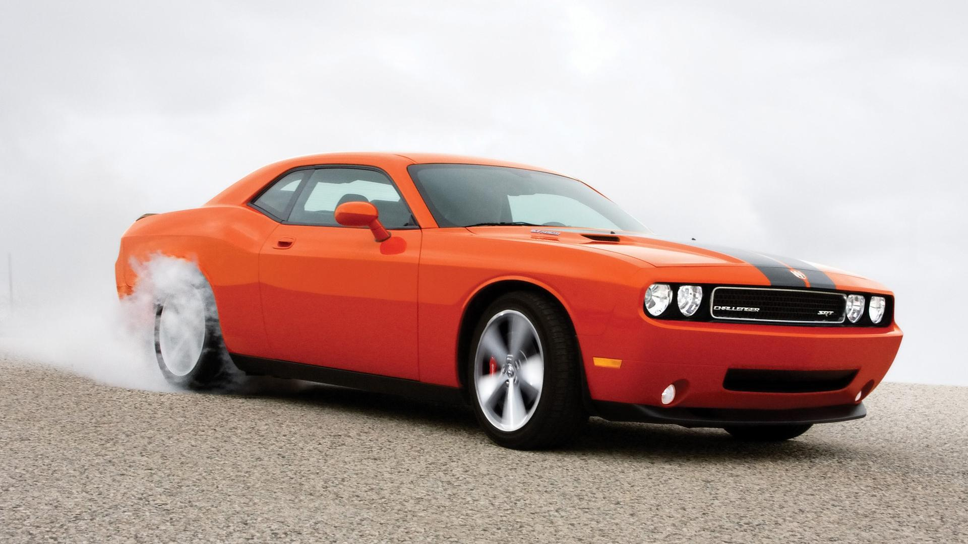 2008 Dodge Challenger Srt8 Burnout Side Angle 1920x1080