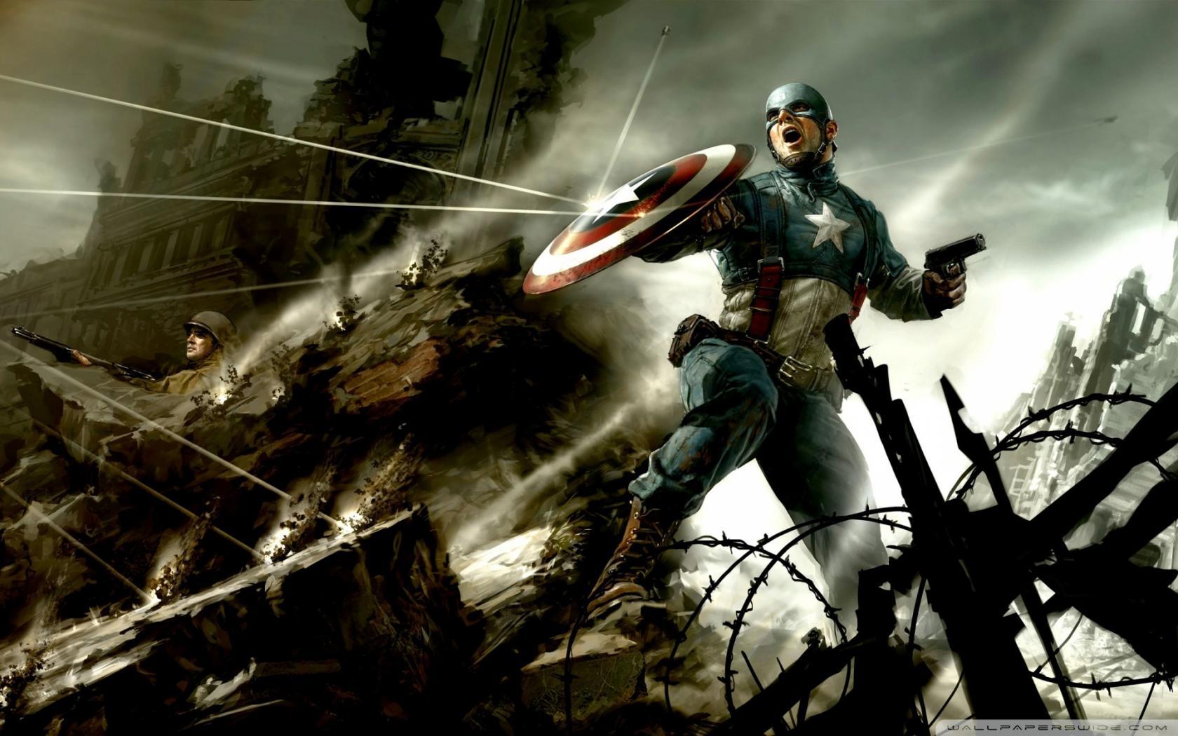 Капитан америка первый мститель 1680x1050