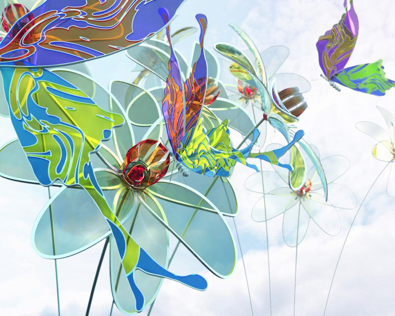 Цветы из 3d ручки