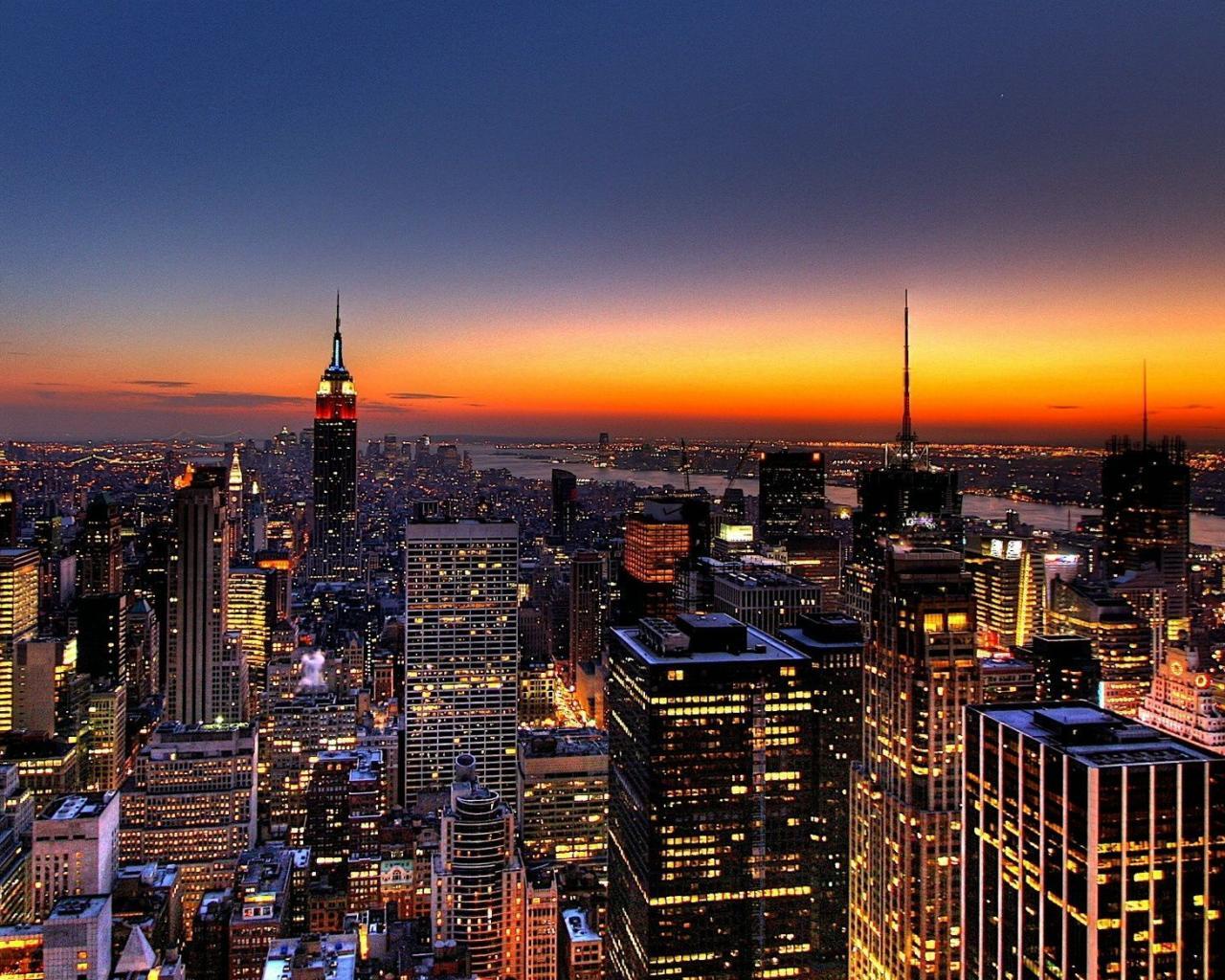 Скачать бесплатно город на закате