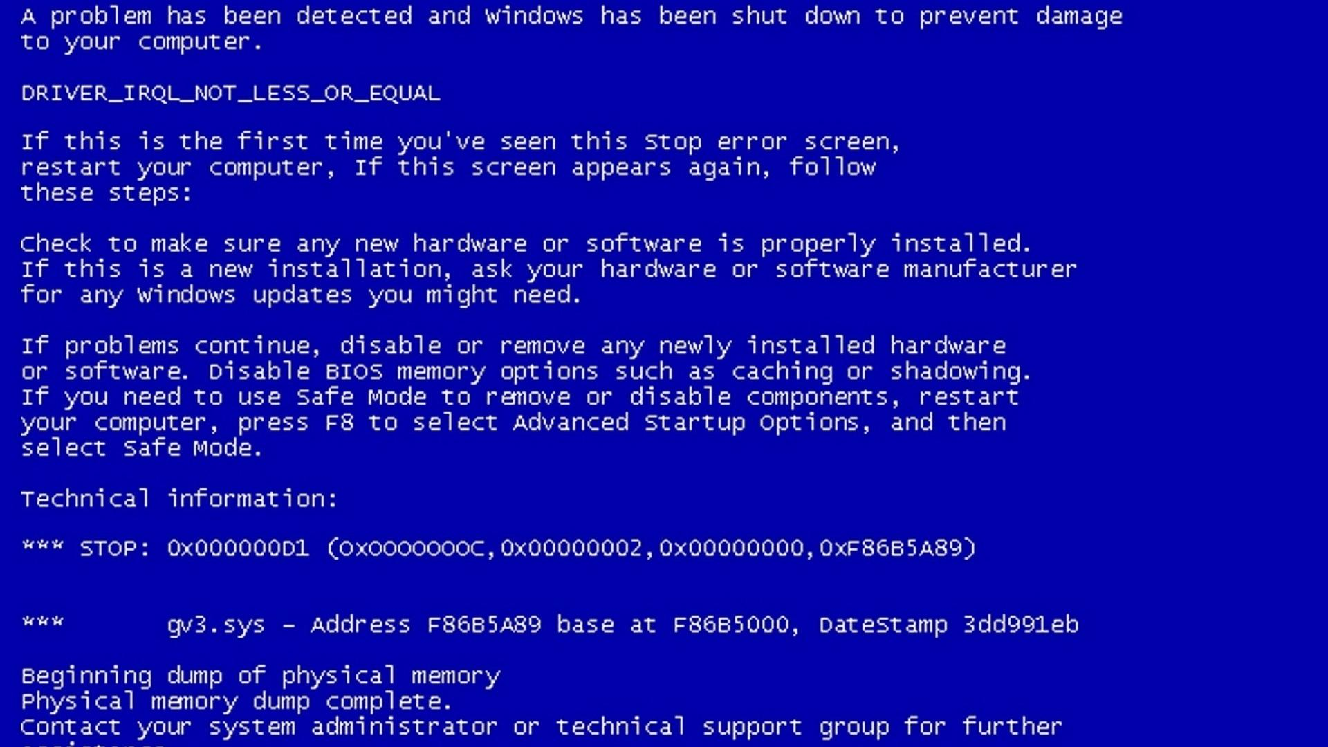 Синий экран смерти обои для рабочего стола, картинки, фото ...
