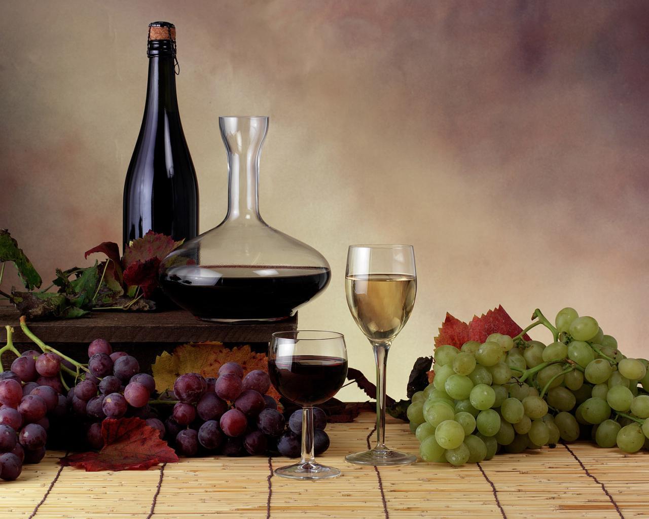 Виноград вино и цветы 90