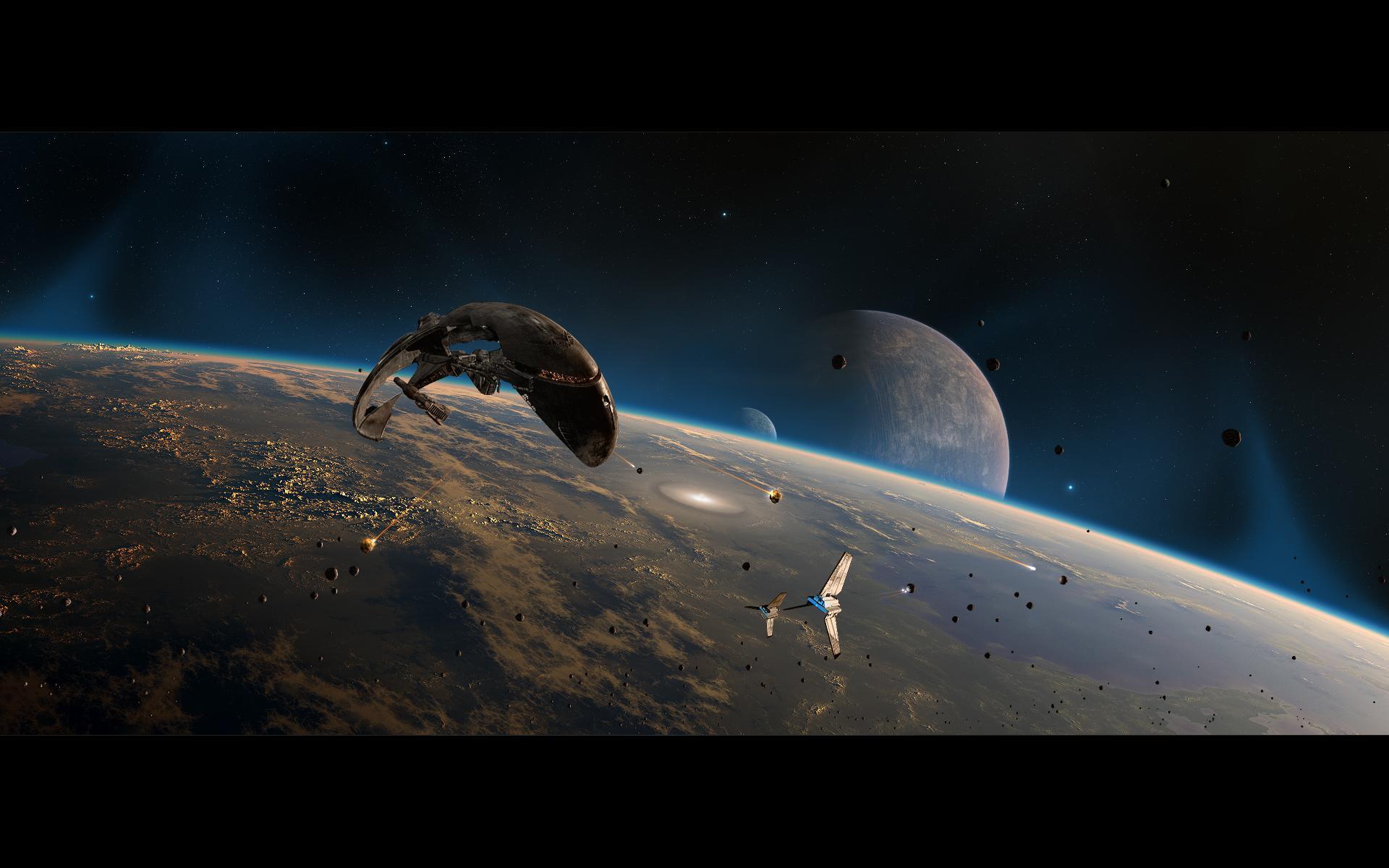 Космические корабли захватчики обои