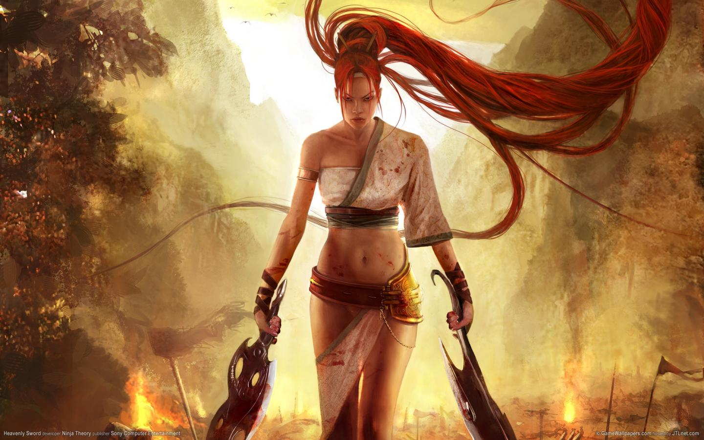 Героиня Heavenly Sword 1440x900